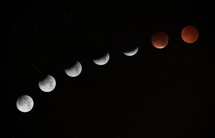 Imagen ilustrativa del proyecto camino de los satélites, luna en sus distintas formas