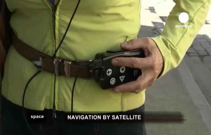 Imagen representativa del proyecto Pernaswip, en la que se ve el aparato de la navegación por satélite