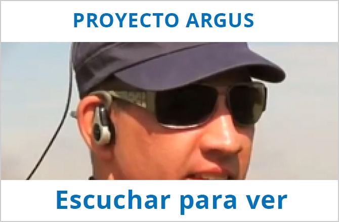Imagen representativa del proyecto Argus, en la que se ve el aparato utilizado para dicho proyecto...