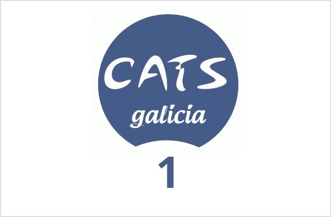 Logotipo del CatsMad Galicia el número 1