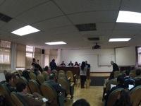 Espectadores en la sala plenaria del erst13