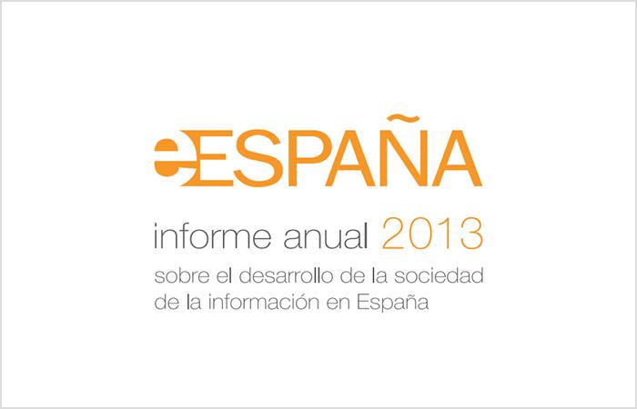 Logo de eEspaña, de su informe anual para el año 2013