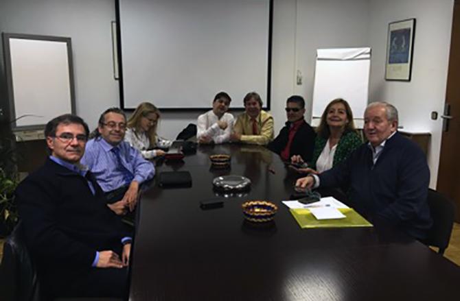 Reunión del patronato celebrada en diciembre del 2014