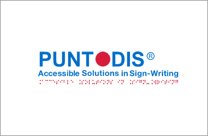 Logotipo de Puntodis (Accessible solutions in Sign-Writing)