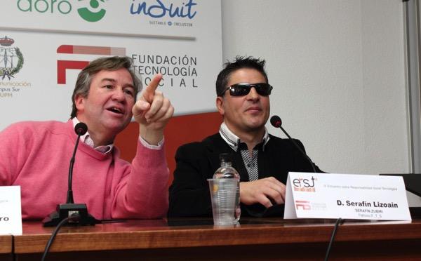 Miguel A. Valero y Serafín Zubiri en la conferencia final
