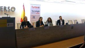 De izquierda a derecha Dª Cristina Rodriguez-Porrero, Dª Estefania de Régil, Dª Marina Portabella y D. Eneko Sese