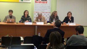 De izquierda a derecha D. Enrique Varela, Dª Mayte Pozo, Dª Angelina Fernández, Dª Carmen García y Dª Cristina Rodriguez-Porrero