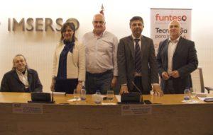 De izquierda a derecha D. Juan Carlos Ramiro, Dª Ruth Benito, D. Borja Adsuara, D. Enrique Gonzalez y D. Alfonso Linares