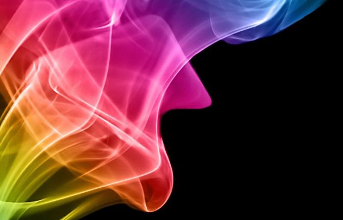Imagen ilustrativa de muchos colores semitransparentes