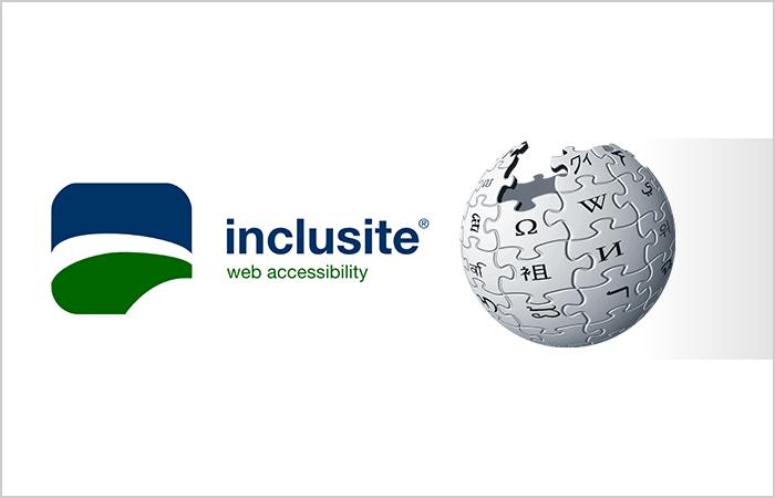 Imagen ilustrativa con el logo de Inclusite y la wikipedia