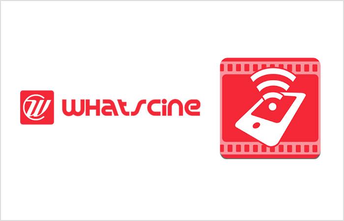 Logotipo de Whatscine con icono