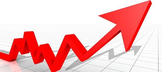 Gráfica con claros índices de crecimiento